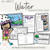 Water | All about water | non-fiction unit & the water cyc