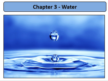 Water (AP Biology, Honors Biology) With Key Points Outline