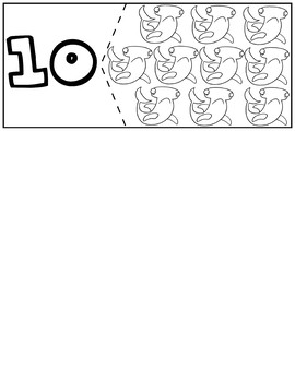 Water Animals Coloring Quantity Puzzles | Numbers 1-10