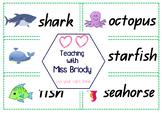 Water Animals Word Wall Cards