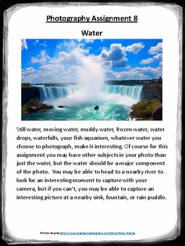 Water Photography Lesson (Assignment 8)