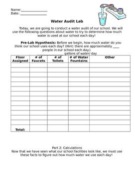 Water Audit Lab