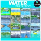 Water Backgrounds Clip Art Set {Educlips Clipart}