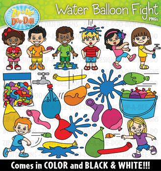 Water Balloon Fight Clipart Set {Zip-A-Dee-Doo-Dah Designs}