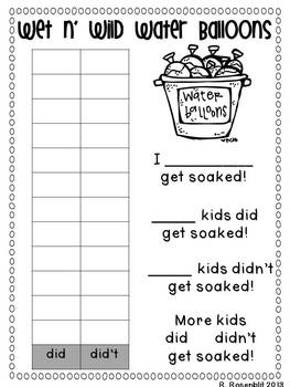 Water Balloon Graphing {Common Core Aligned}