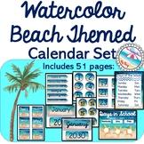 Water Beach Decor Coordinating CALENDAR {Beach Themed 51 P