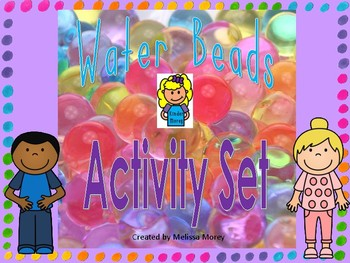 Water Bead Activity Cards - Build the letter Build the number Sort by color