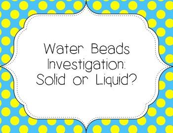 Water Bead Investigation