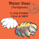 Water Bear (Tardigrade) Clip Art