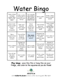 Water Bingo - sustainability and science activity