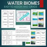 Aquatic Water Biomes - Habitats Sort and Match Activity