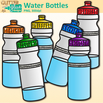 Water Bottle Clip Art | Drink Containers for Classroom Management & Sequencing