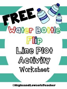 FREE Water Bottle Flip Line Plot Activity