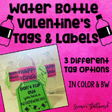 Water Bottle Flip Valentines Day Tag & Label