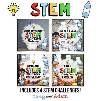 Water Bottle Flipping STEM Activity BUNDLE - NGSS Aligned