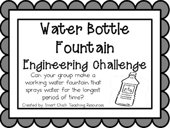 Water Bottle Fountain: Engineering Challenge Project ~ Great STEM Activity!