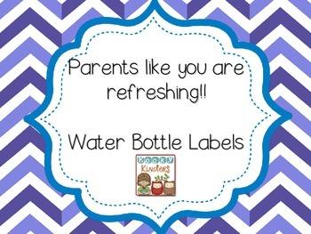 FREEBIE Water Bottle Labels