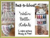Water Bottle Labels - Back to School Labels