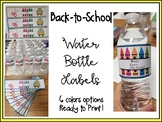 Water Bottle Labels - Back to School Labels