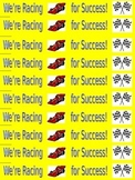 """Water Bottle Labels - Inspirational - """"Racing For Success"""""""
