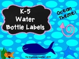 Water Bottle Labels K-5 Ocean Theme FREE