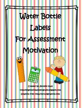 Water Bottle Labels- State Assessment Motivation