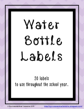 Water Bottle Labels - Throughout the School Year.