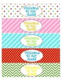 Water Bottle Labels for Back to School/Open House