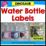 Water Bottle Labels: Gift for Teachers, Staff, or Students! (Dinosaur Theme)