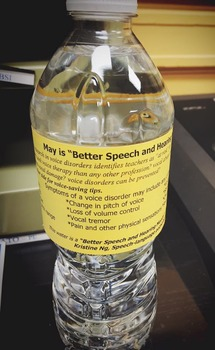Water Bottle for Better Speech Hearing Month