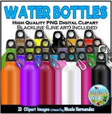 Water Bottles Clip Art for Personal and Commercial Use