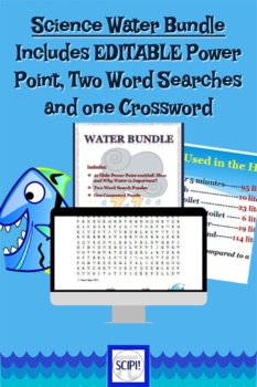Water Bundle: Includes 23 Slide Power Point and Two Word Searches