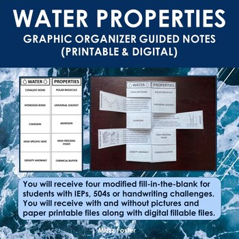 Water Bundle: Power Point and Graphic Organizer Foldable for INB