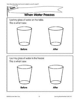 Water Can Change from One Form to Another