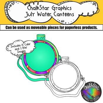 Water Canteens July Clip Art –Chalkstar Graphics