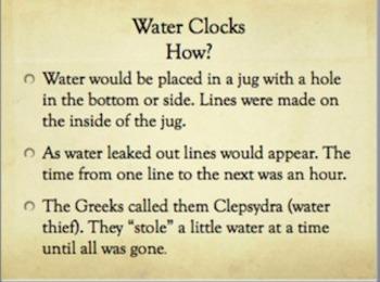 Water Clock Activity