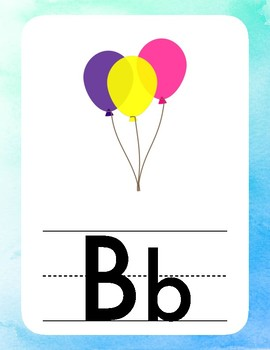 Water Color Alphabet Cards