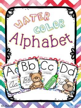 Water Color Alphabet (Classroom Decor)