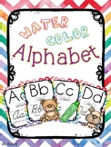 Water Color Alphabet (Classroom Decor)