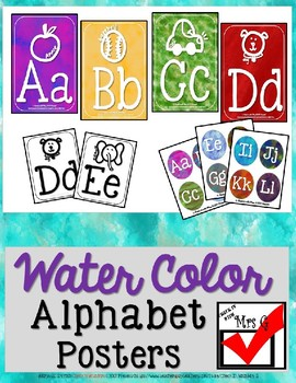 Water Color Alphabet Poster