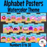 Water Color Alphabet Posters {Alphabet Charts}