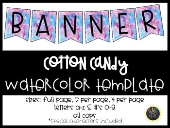 Water Color Banner Templates