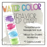 Water Color Behavior Clip Chart