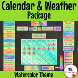 Water Color Calendar and Weather Pack