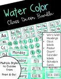 Water Color Class Decor Bundle