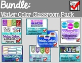 Water Color Classroom Bundle