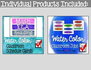 Water Color Classroom Bundle