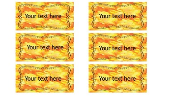 Water Color Classroom Labels