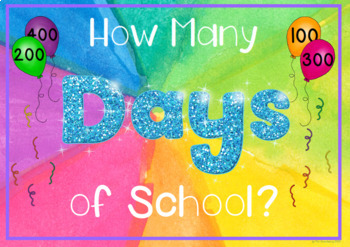 Water Color Counting 100 Days of School Chart