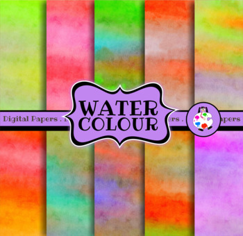 Water Color Digital Paper Pack
